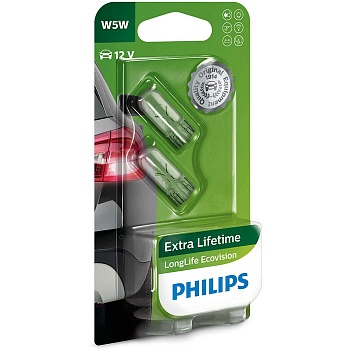 Philips W5W LongLife EcoVision - 12961LLECOB2